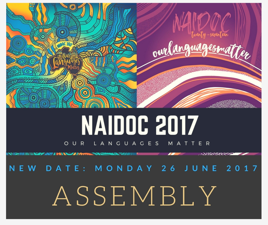 NAIDOC ASSEMBLY DATE ANNOUNCEMENT
